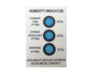 Electronic Component Humidity Indicator Labels