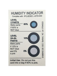 Moisture Indicator Label