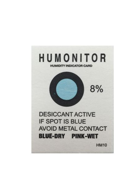8% Blue Humonitor Humidity Indicator Cards