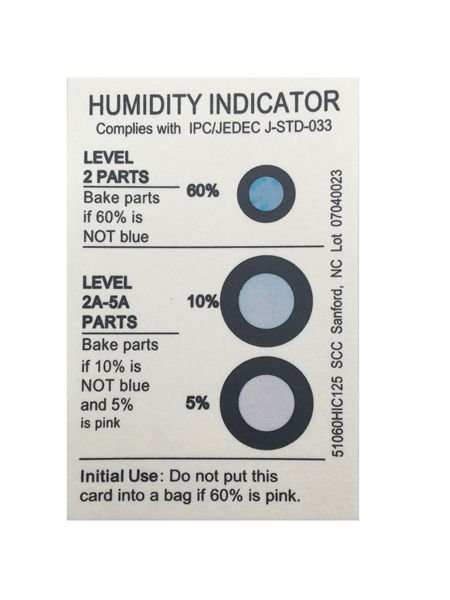 Customize Your Logo Moisture Indicator Card