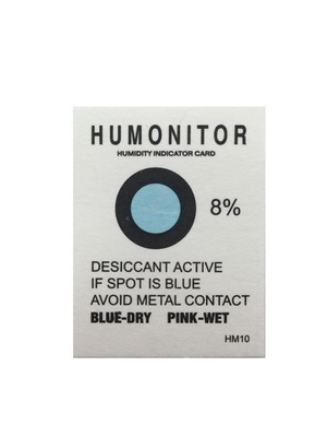 Electronic Packaging Humidity Card