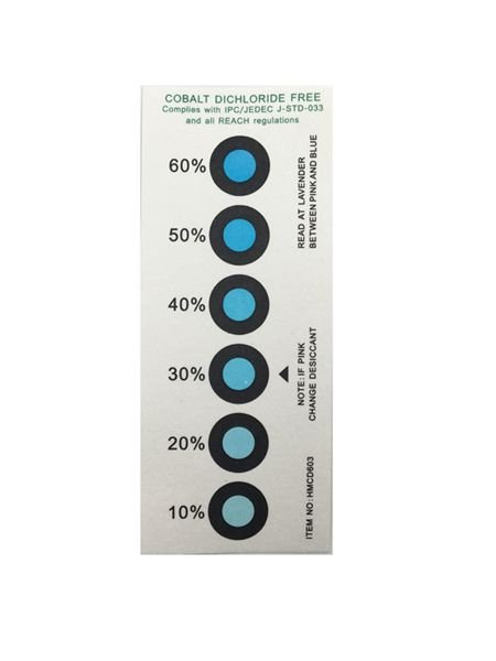 Blue To Pink Humidity Indicator Card