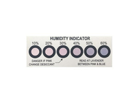 Moisureproof Packing 6 Dots 10%-60% Humidity Indicator Cards Humidity Indicator