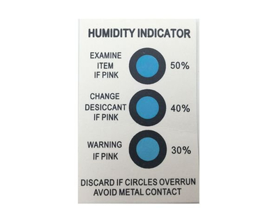 Dry Blue Color Humidity Indicator Sticker