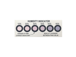 LED Cobalt Six Points Humidity Indicator Card Strip
